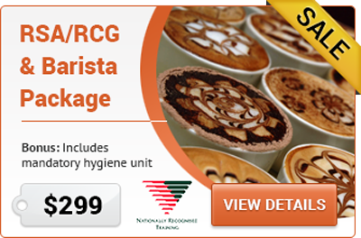 RSA RCG & Accredited Barista Course Parramatta NSW